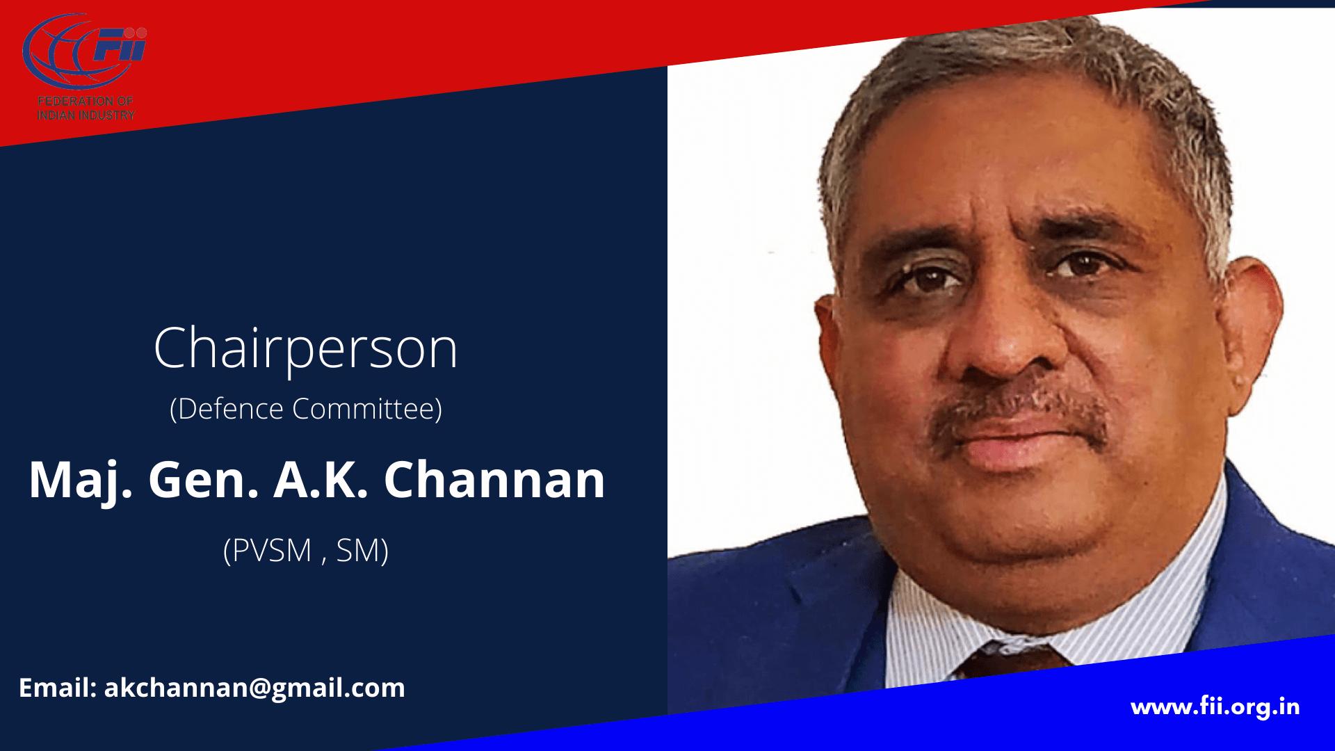 Maj. Gen. Ashwani Kumar Channan Chairperson, Defence Committee